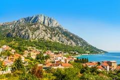 Croatia - Makarska riviera - Gradac. Croatian Dalmatian landscape. Tourist attractions and towns of Makarska Riviera. Dalmatia view from the sea side stock images