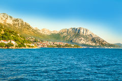 Croatia - Makarska riviera - Podaca - Coastal landscape. Croatian Dalmatian landscape. Tourist attractions and towns of Makarska Riviera. Dalmatia view from the royalty free stock photography