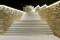 Croatia, marble staircase of a hotel royalty free stock image