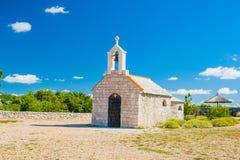 Free Croatia, Mount Kamenjak On Vransko Lake, Beautiful Old Stone Church On The Hill Stock Images - 192010114