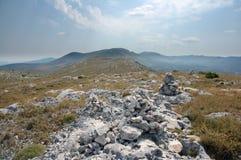 Croatia mountain and hills Royalty Free Stock Photo