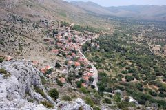 Croatia mountain and hills  Royalty Free Stock Photography