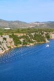 Croatia - mussel farm Stock Photo