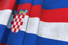 Croatia National Flag Stock Images