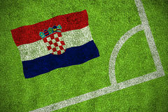 Croatia national flag Stock Photography