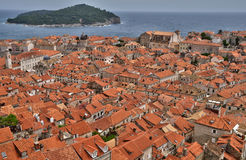 Croatia, old and picturesque city of Dubrovnik Stock Photos