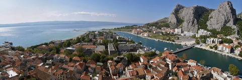 Croatia old town Omis, Dalmatia Royalty Free Stock Photography