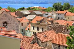 croatia omis Arkivbild