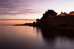 croatia półmroku krk krajobraz Fotografia Royalty Free