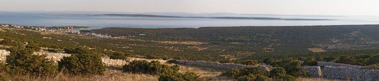 Croatia, Pag island, fjord, Island of Pag, Europe, sailing, nature, landscape, Mediterranean Sea, Adriatic Sea, summer stock photography