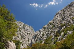 Croatia - Paklenica National Park in the Velebit mountains in northern Dalmatia, near the town of Starigrad. stock images
