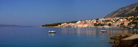 Croatia panorama. (Brac island, Bol city Stock Image