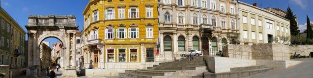 croatia panoramapula arkivbilder