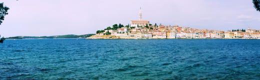 croatia panoramarovinj Royaltyfria Foton
