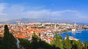 croatia panoramasplit Arkivbilder