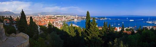 croatia panoramasplit Arkivfoton