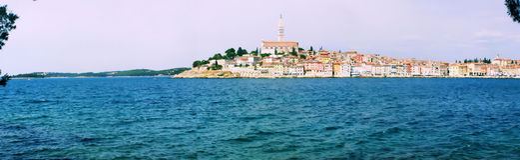 croatia panoramy rovinj Zdjęcia Royalty Free