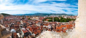 croatia panoramy rozłam Zdjęcia Royalty Free
