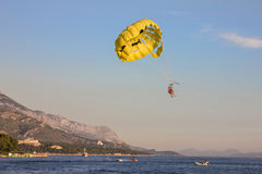 Croatia. Parashut near Makarska coast of Adriatic sea Stock Photo