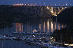 Croatia - parque nacional de Krka - Skradin imagem de stock