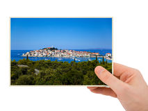 Croatia photography in hand Stock Images
