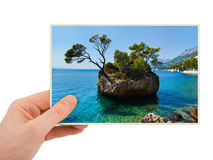 Croatia photography in hand Royalty Free Stock Image