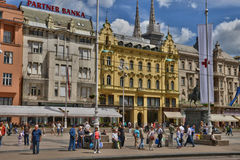 Croatia, picturesque city of Zagreb Stock Photography