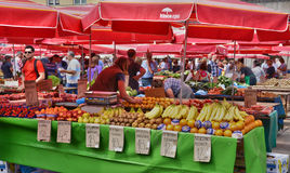Croatia, picturesque market of Zagreb Royalty Free Stock Image