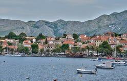 Croatia, picturesque village of Cavtat in Balkan Stock Photos