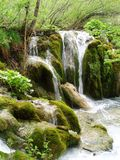 Croatia, Plitvitskiye lakes. Croatia, national park Plitvitskiye lakes, waterfall Royalty Free Stock Images
