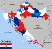 Croatia political map Royalty Free Stock Photo