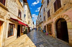 Free Croatia Porec. Central Street Old Town Paved Stock Photography - 168366492