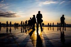 croatia powitania słońce zadar zdjęcia stock