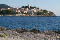 croatia primosten townen Royaltyfri Foto