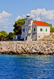 Croatia, Prisnjak Lighthouse on an islet of Murter archipelago Stock Photo