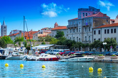 Croatia, Rab City harbor Stock Photo