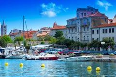Croatia, Rab City harbor Stock Photo