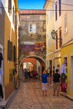 Croatia , Rab City narrow streets Royalty Free Stock Photography