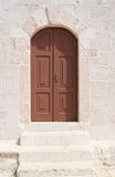 Croatia, Rab town - old door Royalty Free Stock Photography