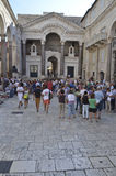 Croatia rachado Fotos de Stock Royalty Free