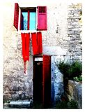 Croatia Red Window Royalty Free Stock Photos