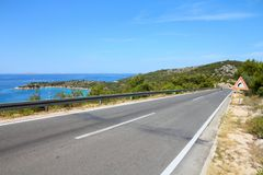 Croatia road. Croatia - road along the coast of Murter island Stock Image