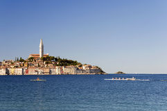 Croatia -  Rovinj - City and Mediteranean Sea with Royalty Free Stock Image