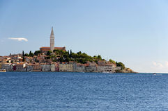 Croatia -  Rovinj - Old city and mediterranean sea Royalty Free Stock Photos