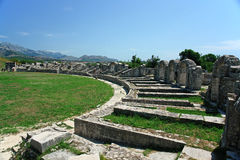 Croatia, ruins, amphitheatre Stock Photos
