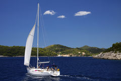 Croatia: Sailing at the Adriatic Sea Stock Photography