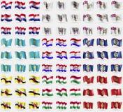 Croatia, Saint Barthelemy, British Antarctic Territory, Kazakhstan, Mordovia, Belize, Brunei, Hungary, Montenegro. Croatia, Saint Barthelemy British Antarctic Royalty Free Stock Image