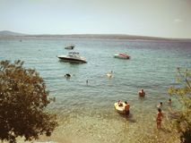 Good times. Croatia sea. Summer childhood royalty free stock photo