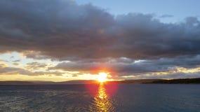 croatia set sun Arkivbild