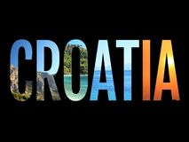 Croatia sign conceptual image illustration. Black background vector illustration